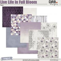 Live Life in Full Bloom Paper by DRB Designs | DRB Designs