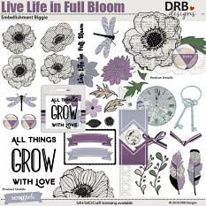 Live Life in Full Bloom Embellishment Biggie by DRB Designs | DRB Designs