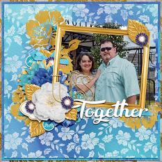 """Us Together"" digital scrapbook layout by Vikki Lamar"