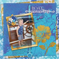 """Boat Memories"" digital scrapbook layout by Debby Leonard"