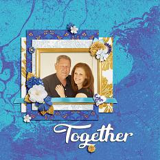 """Together"" digital scrapbook layout by Shauna Trueblood"