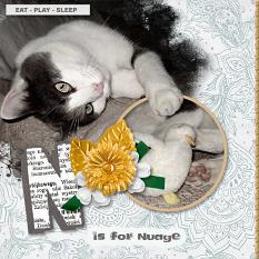 """N is for Nuage"" digital scrapbook layout by Geraldine Touitou"