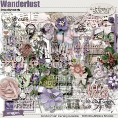 Wanderlust Embellishments by On A Whimsical Adventure