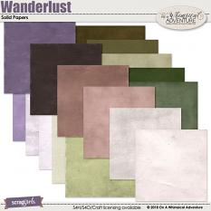 Wanderlust Solid Papers by On A Whimsical Adventure