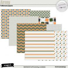 Army Patterned Papers