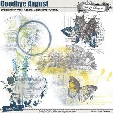 Goodbye August Embellishment Mini : Accent by Florju Designs