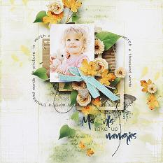 layout using Goodbye August Embellishment Mini : Cluster 2 by Florju designs