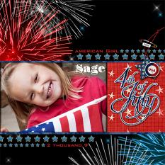 4th of July layout by Brandy Murry. See below for description and links to all products used in this digital scrapbooking layout.