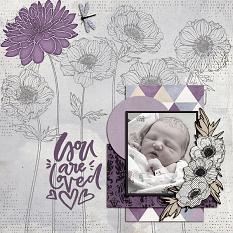 """You are Loved"" digital scrapbook layout by Shauna Trueblood"