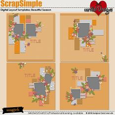 ScrapSimple Digital Layout Templates:Beautiful Season