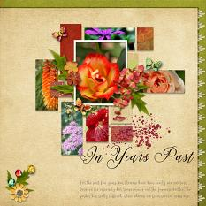 Layout using ScrapSimple Digital Layout Templates:Beautiful Season