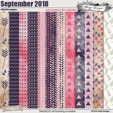 September 2018 Addon Papers by Florju designs