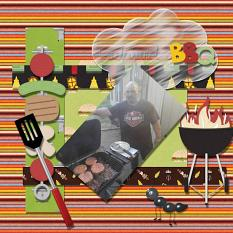 Layout using Backyard BBQ Collection By Charly Renay