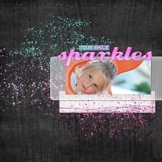 "Digital Scrapbooking Layout ""Your Smile Sparkles"" by Amanda S (see supply list with links below)"