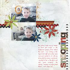 "Digital Scrapbooking Layout ""Snooping"" by Amanda S (see supply list with links below)"