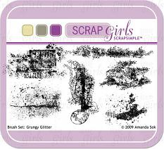 Sold Separately Brush Set: Grungy Glitter