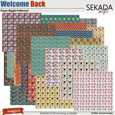 Welcome Back Paper Biggie Patterned