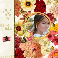 Layout by Geraldine Touitou using Vintage Fleur digital background