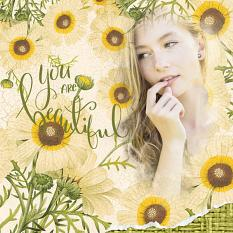 Layout created using Vintage Fleur digital background templates