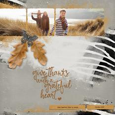 """""""Give Thanks"""" digital scrapbook layout by Judy Webster"""