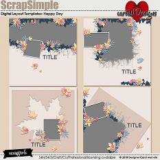 ScrapSimple Digital Layout Templates:Happy Day