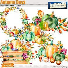 autumn Days Embellishment Mini 1 Clusters by Aftermidnight Design