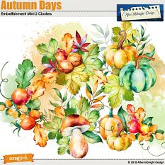 Autumn Days Embellishment Mini 2 Clusters by Aftermidnight Design