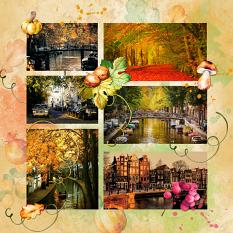 Layout by Marie Orsini using the kits in the Autumn Days series.