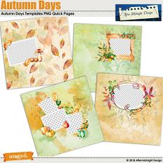 Autumn Days Templates Quick Pages by Aftermidnight Design