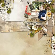 layout using ScrapSimple Layout template: Botany Autumn Template by Florju designs
