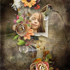 layout using Botany Autumn Papers by florju designs