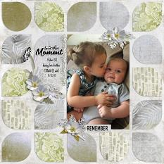 """Love This Moment"" digital scrapbook layout by Sue Maravelas"
