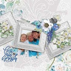 """Love You So Much"" digital scrapbook layout by Debby Leonard"