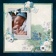 """Love You So Much"" digital scrapbook layout by Sue Maravelas"