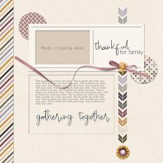Gathering Together Layout Template