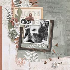 Fern Digital Scrapbooking layout by Brandy Murry