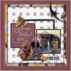 """""""Forever"""" digital scrapbook layout by Amy Flanagan"""
