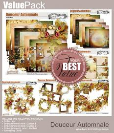 layout using Douceur Automnale Papers Biggie by Florju Designs