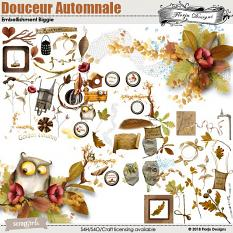 layout using Douceur Automnale Collection by Florju Designs