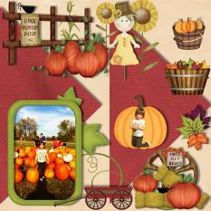 Layout using Autumn Harvest By Charly Renay