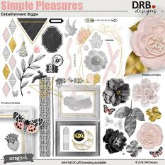 Simple Pleasures Embellishment by DRB Designs | ScrapGirls.com