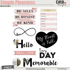 Simple Pleasures Word Art Mini by DRB Designs | ScrapGirls.com