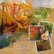 """Splendor of Fall"" digital scrapbooking layout using Splendor Collection Mini"