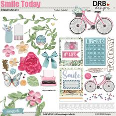 Smile Today Embellishment by DRB Designs | ScrapGirls.com