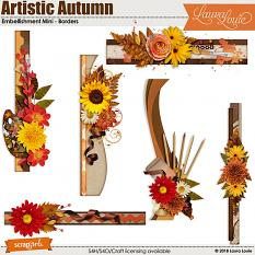 Artistic Autumn Embellishment Mini - Borders