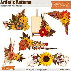 Artistic Autumn Embellishment Mini - Clusters
