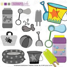 Also available: ScrapSimple Embellishment Templates: Summer Joy