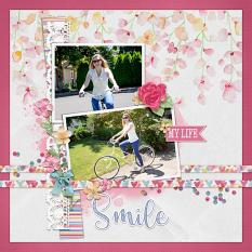 """My Life"" digital scrapbook layout by April Martell"
