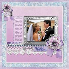 """Special Moment"" digital scrapbook layout by Sue Maravelas"