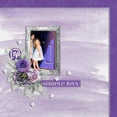 """Simple Joys"" digital scrapbook layout by Carmel Munro"